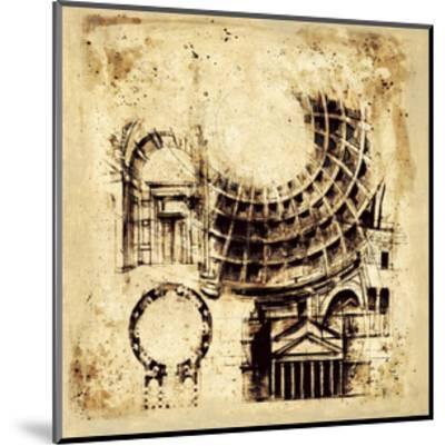 Architectorum II-Paul Panossian-Mounted Giclee Print