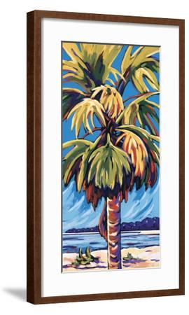 Clearwater Glow in Blue-Sally Evans-Framed Giclee Print