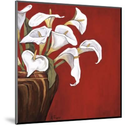 Callas on Red-Ann Parr-Mounted Giclee Print