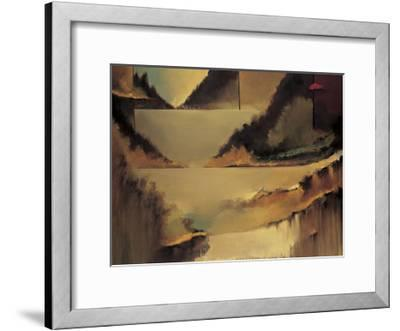 Behind the Curtain-Denis Jully-Framed Giclee Print