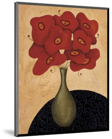 Bouquet Rouge-Jocelyne Anderson-Tapp-Mounted Giclee Print