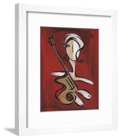 Woman with Guitar-Christian Pavlakis-Framed Giclee Print