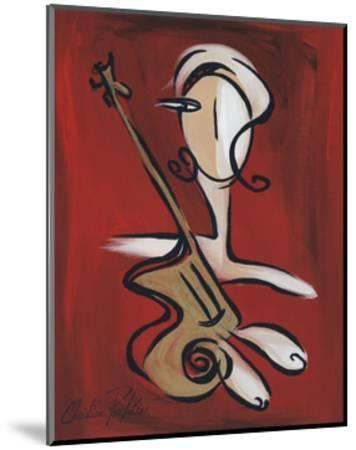 Woman with Guitar-Christian Pavlakis-Mounted Giclee Print