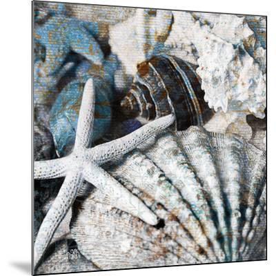 Seachells in Blue II--Mounted Art Print