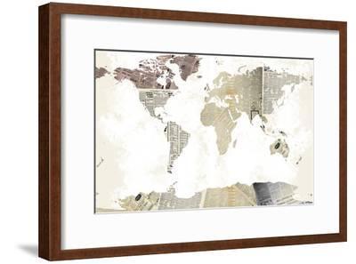 World Map I--Framed Art Print