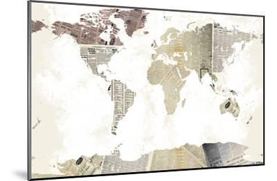 World Map I--Mounted Art Print