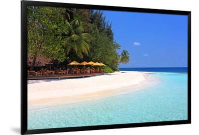 View towards the Angsana Ihuru Hotel, Ihuru Island, North Male Atoll, Maldives--Framed Premium Giclee Print