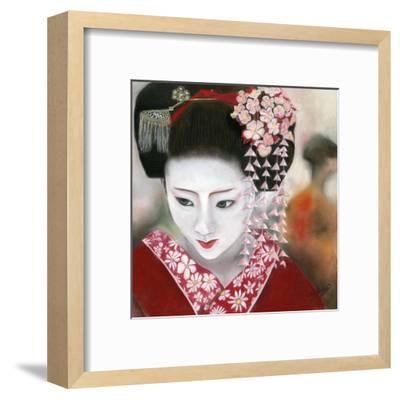 Geisha Rouge a Gauche-B?atrice Hallier-Framed Art Print