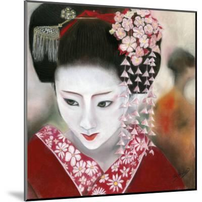 Geisha Rouge a Gauche-B?atrice Hallier-Mounted Art Print