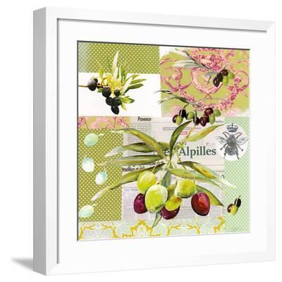 Frise Rose Olive-Lizie-Framed Art Print