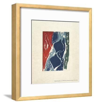 Neujahrsgruß-Ernst Wilhelm Nay-Framed Collectable Print