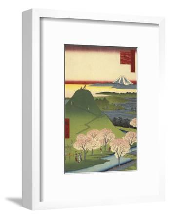 New Fuji, Meguro (Meguro Shin-Fuji), 1857-Ando Hiroshige-Framed Art Print