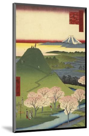 New Fuji, Meguro (Meguro Shin-Fuji), 1857-Ando Hiroshige-Mounted Art Print