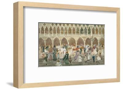 Sunlight on the Piazzetta, 1898–99-Maurice Brazil Prendergast-Framed Art Print