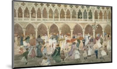Sunlight on the Piazzetta, 1898–99-Maurice Brazil Prendergast-Mounted Art Print