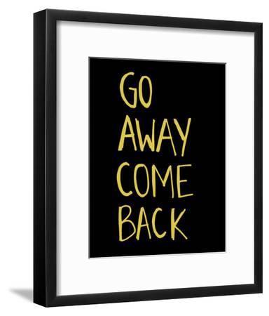 Go Away Come Back-Urban Cricket-Framed Art Print