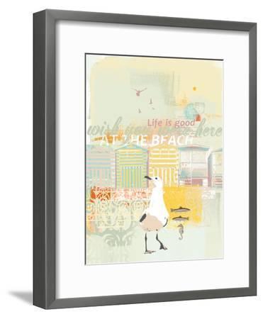 Fish and Ships IV-Ken Hurd-Framed Art Print