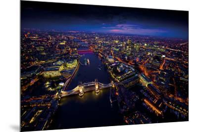 Sky View London II-Jason Hawkes-Mounted Giclee Print