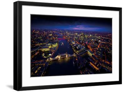 Sky View London II-Jason Hawkes-Framed Giclee Print