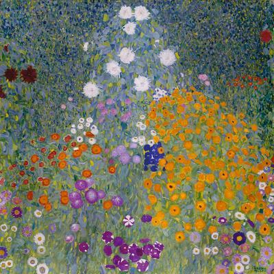 Flower Garden-Gustav Klimt-Giclee Print