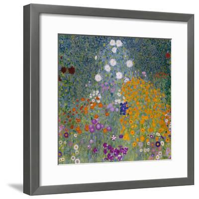 Farmer's Garden-Gustav Klimt-Framed Giclee Print