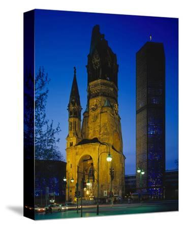 Kaiser-Wilhelm Memorial Church in Berlin, Germany--Stretched Canvas Print