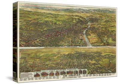 Los Angeles, California, 1894-B^W^ Pierce-Stretched Canvas Print