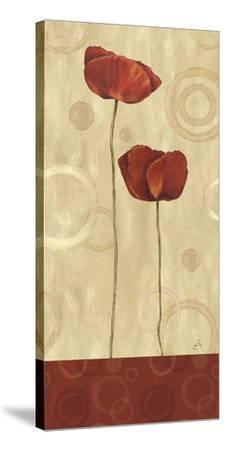 Pop Art Poppies I-Daphne Brissonnet-Stretched Canvas Print