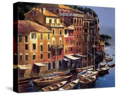 Mediterranean Port-Michael O'Toole-Stretched Canvas Print