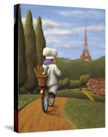 The Road to Paris-Bryan Ubaghs-Stretched Canvas Print