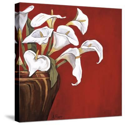 Callas on Red-Ann Parr-Stretched Canvas Print