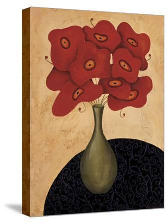 Bouquet Rouge-Jocelyne Anderson-Tapp-Stretched Canvas Print