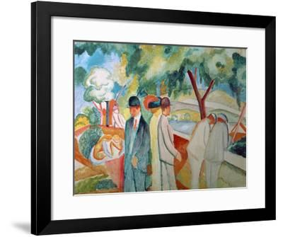 Great Bright Walk-Auguste Macke-Framed Giclee Print