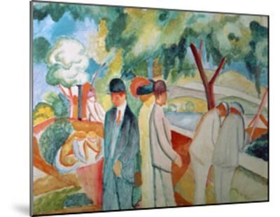 Great Bright Walk-Auguste Macke-Mounted Giclee Print