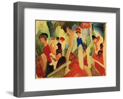Hat Shop at the Promenade-Auguste Macke-Framed Giclee Print