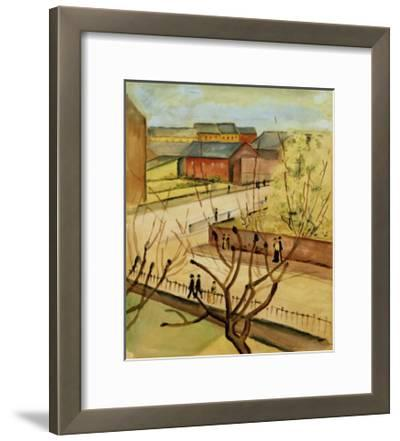 View of our street in spring, 1912-Auguste Macke-Framed Giclee Print