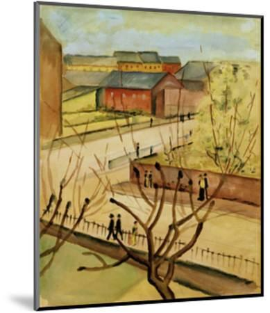 View of our street in spring, 1912-Auguste Macke-Mounted Giclee Print