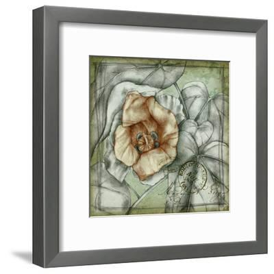Postmark Tropicals IV-Jennifer Goldberger-Framed Art Print
