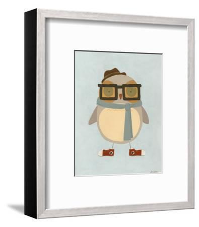 Hipster Owl II-Erica J^ Vess-Framed Art Print