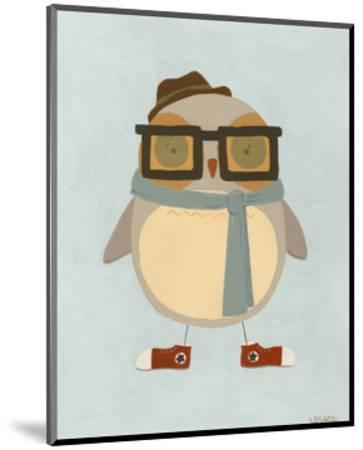 Hipster Owl II-Erica J^ Vess-Mounted Art Print
