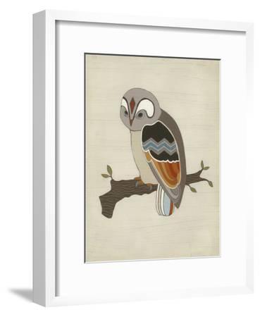Chevron Owl II-Erica J^ Vess-Framed Art Print