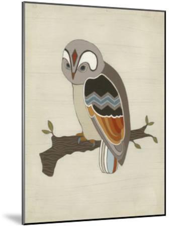 Chevron Owl II-Erica J^ Vess-Mounted Art Print