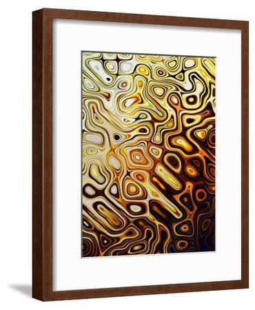 Metallic Shapes I-Danielle Harrington-Framed Art Print