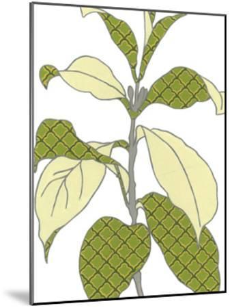 Modern Foliage I-Erica J^ Vess-Mounted Art Print