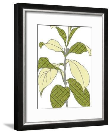 Modern Foliage I-Erica J^ Vess-Framed Art Print