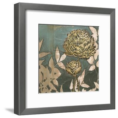 Peony on Blue II-Megan Meagher-Framed Art Print