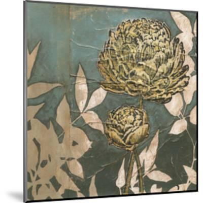 Peony on Blue II-Megan Meagher-Mounted Art Print