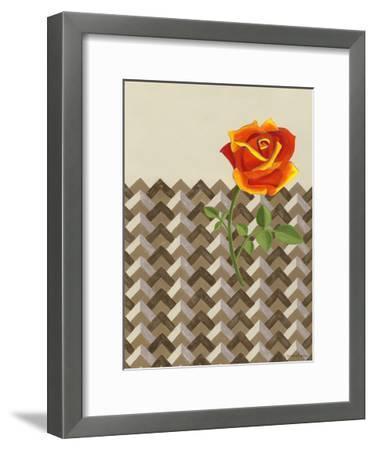 Rosa Dawn II-Vanna Lam-Framed Art Print