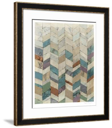 Chevron Overlay II-Megan Meagher-Framed Limited Edition
