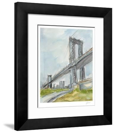 Plein Air Bridge Study I-Ethan Harper-Framed Limited Edition